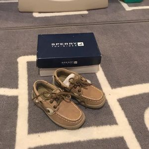 SPERRY Boys Bluefish Linen Loafers Flats Shoes 9M